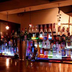 Barならでは★お酒の種類が豊富♪