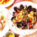 料理メニュー写真アサリとムール貝の白ワイン蒸し