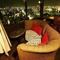 方角によって異なる夜景をお楽しみいただけます☆ソファー席は人気のためご予約はお早めにお願いします!!
