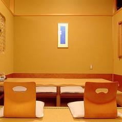 1階の掘りごたつ式のこあがり席となっております。ゆったりとお食事するのにぴったりです!