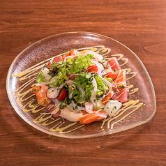 京野菜と海鮮の和風カルパッチョ