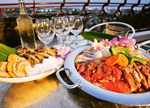 ◆BBQ魚介とお肉の贅沢プラン 3000円(税抜)