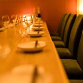 洋の内装の落ち着いた店内はご接待や外せないご宴会にも◎こだわりのお食事と厳選銘酒をご用意しておりますので、テーブルを囲み会話が弾むこと間違いなしです。