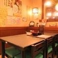 【テーブル】6名様席が2席ございます。
