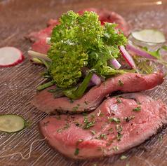 京野菜とローストビーフ
