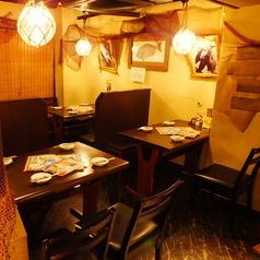 席と席との間隔が広く、【女子会】、【プライベート飲み】に便利!