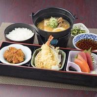名物の肉豆腐がついた和食膳