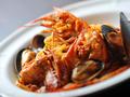 料理メニュー写真ワタリガニと赤エビの魚介トマトソース