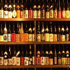九州の焼酎が250種ずらり!