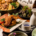 料理メニュー写真絶品地鶏の宴会コース飲み放題付3000円~