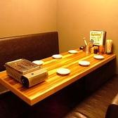 6名用の個室テーブル席。家族連れに人気!