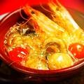 料理メニュー写真有頭海老とマッシュルーム