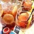 ★レモン風味のグレープスプリッツァー★スライスレモン入りで爽やかで飲みやすいフルーツスプリッツァーです。