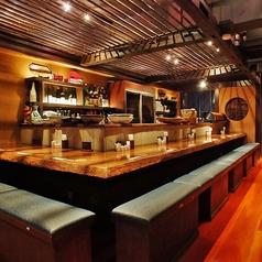【カウンターも★】宴会はもちろん、お一人様でもお気軽に♪自慢の創作料理のほか、宴会におすすめの飲み放題付コースを多数ご用意しております。