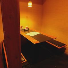 半個室タイプのお席は周りを気にせず楽しめる人気のお席!予約がおすすめ!