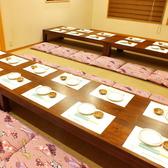 2階のお座敷個室の壁を取り外すと最大40名様の個室としてご利用可能です。