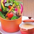 料理メニュー写真新鮮彩り野菜のバーニャカウダ