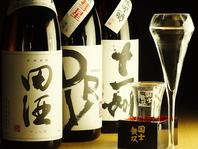 全国各地からの銘酒が一杯一律390円(税抜)