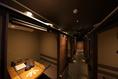6名様の掘りごたつ個室です。同タイプのお部屋が8部屋ございます。