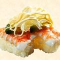 料理メニュー写真えびチーズマヨ直火炙り/アボカドえび/デミマヨハンバーグ