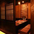 武蔵新城駅から徒歩1分!ちょっとした飲み会にも最適な4名個室。ゆっくり過ごせる落ち着いた個室です。武蔵新城で居酒屋をお探しの際は、ぜひ当店へお越しください♪
