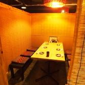 5~6名様の個室空間。宴会には飲み放題付き2500円コースがオススメです。