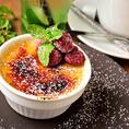 たっぷりと肉料理を楽しんだ後は、最後のお楽しみのデザートをお召し上がり下さい。種子島特産の安納芋を使用したカタラーナは、パリパリのカラメルの下に、トロットロの甘いカスタード♪安納芋の甘さを感じられる食後にピッタリのデザートです!