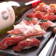 野田阪神で肉寿司にステーキなど名物料理をご賞味