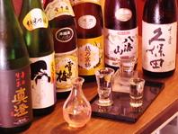 豊富な日本酒、泡盛の数々…
