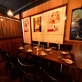 テーブル席36名様までご利用可能!お客様のプライベートをより満喫して頂ける用に、鳥造では様々なお席をご用意しています。人数の少なめの宴会・飲み会・お食事等でご利用いただけます。2時間飲み放題付コースも多数ご用意ございます。