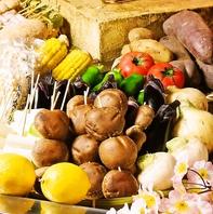 産地直送の野菜たち。焼いても良し◎揚げても良し◎