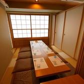 襖で仕切られた8名様までの掘りごたつ式完全個室。落ち着いてお食事をしたい方や、接待に最適の襖で仕切られる席となっております。