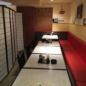 【12名様~20名様】パーテーションで仕切ることで半個室席としてご利用頂けます。