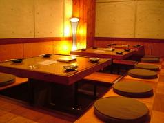 4名様がけのお席はアレンジできるので、個室で宴会したい方に◎