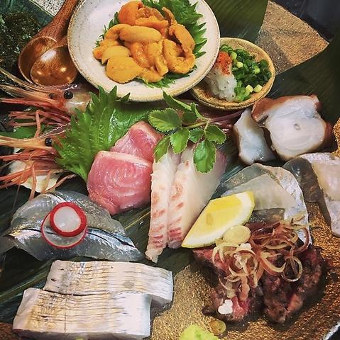 毎朝仕入れる新鮮なお魚や黒毛和牛を使用した店主こだわりのお料理をお楽しみ下さい♪