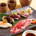 料理メニュー写真肉寿司盛り合わせ