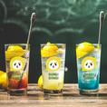 レモンを贅沢に半分使った『オホーツクレモンサワー』!さわやかな味わいですっきりとお楽しみ頂けます♪味も数種類ございますので飲み比べて楽しんでみて☆