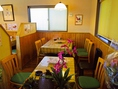 アットホームな雰囲気の店内は、子供連れや女性同士の食事会にもいい。