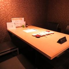 4名様用テーブル個室は3部屋。