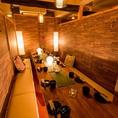 接待といった ビジネスシーンにもご利用頂けます◎間接照明の優しく照らす大人の個室空間で素敵なご宴会を…♪