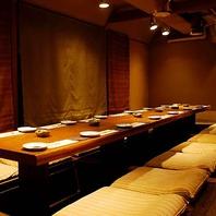 ◆ゆったりと寛げる大小9つの個室◆