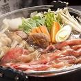 口の中でとろけるお肉が絶品の黒毛和牛のすき焼きをご堪能いただける全11品のご宴会コースは、最大3時間の飲み放題付海鮮サラダや鱈の西京焼き等、厳選した旬の素材を使用。絶品料理を取り揃えております。メインを「しゃぶしゃぶ」「すき焼き」「せいろ蒸し」よりお選びください!