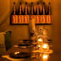 女子会や飲み会に最適なテーブル席
