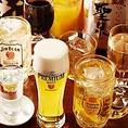 宴会や飲み会はもちろん、会社帰りの一杯に、飲み会での1杯目としてなど、とりあえずのシーンに重宝!飲み放題は大げさでも懐を気にせず飲みたい派にはうってつけです。