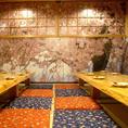 【2F】最大宴会人数45名様までOKの座敷のお席です。