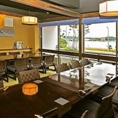宍道湖を眺めながらゆったり食事が楽しめるイス座敷