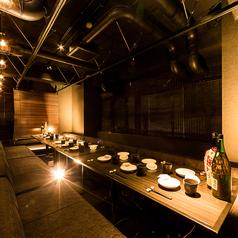最大30名様前後でご利用いただけるソファー席の団体個室。多彩な個室席をご用意しております。横浜でのご宴会に◎