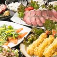 ◇2時間飲み放題付食べ放題コースは気軽にお愉しみ頂ける価格帯で食べ放題をご用意致しました。リーズナブルながらも大満足のボリュームとなっております。各種ご宴会にぴったりな当店オススメコース!新鮮食材を使用したお料理を、心ゆくまでお愉しみ下さいませ。