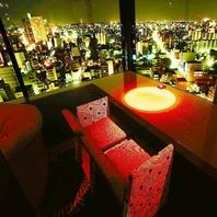 高層ビル最上階の夜景×全席カップルシート