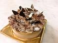 特注のチョコレートケーキです。